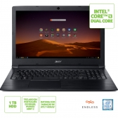 Notebook Acer A315-53-3470 Intel Core I3 6006U 4Gb 1Tb 15,6 Endless Os (Linux) Preto